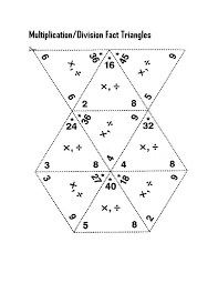 math fact families multiplication division free fact triangles worksheets activity shelter