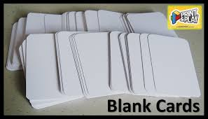 blank cards print play admagic