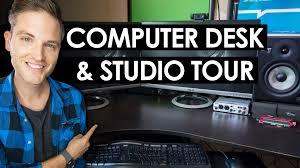 Computer Desk Setup Computer Desk Setup Ideas U2014 Video Editing Studio Tour Youtube