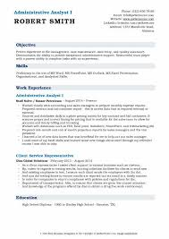 resume exles high education only disclaimer administrative analyst resume sles qwikresume