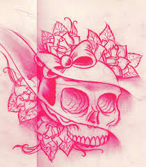 girly skull sketch by willemxsm on deviantart