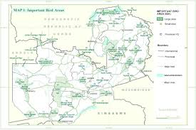 Map Of Zambia Zambia Map African Bird Club
