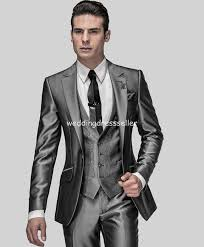 high class suits new arrival slim fit groom suits tuxedos shiny grey best suits
