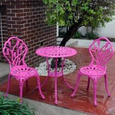 Aluminum Bistro Table And Chairs Cast Aluminum Bistro Sets Foter