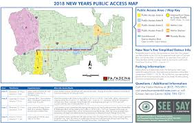 Pr Map City Provides Public Access Map For Rose Parade And Rose Bowl Game