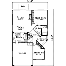 bungalow style house plan 2 beds 2 00 baths 1199 sq ft plan 78 188