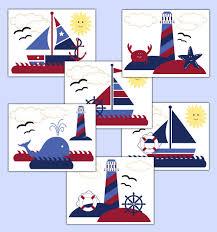 nautical wallpaper border wall decals baby boy sailboat nursery