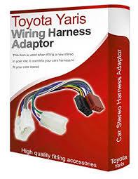 toyota yaris cd radio stereo wiring harness adapter amazon co uk