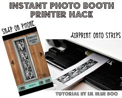 photobooth printer instant photo booth printer hack