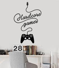 stickers chambre parentale vinyl wall decal gamer joystick video game children u0027s room