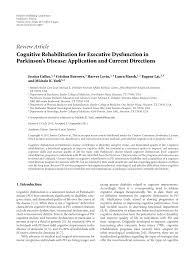 cognitive rehabilitation for executive dysfunction in parkinson u0027s