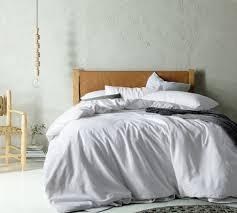 accessorize white linen blend quilt cover set u0026 reviews temple