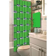 Nfl Shower Curtains Officially Licensed Nfl Shower Curtain Seattle Seahawks