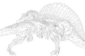 spinosaurus vs t rex clipart clipground