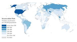 India On A Map List Of Countries By Incarceration Rate Wikipedia