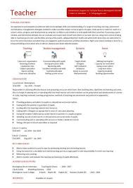 Free Teacher Resume Templates Teacher Resume Template Substitute Teacher Resume Example
