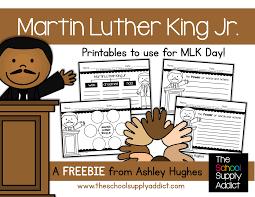 blog hoppin u0027 martin luther king jr freebie