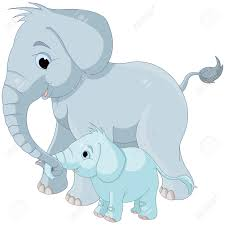 mother and baby elephant clipart clipartxtras