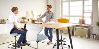 Used Adjustable Height Desk by Mastermind High Desk Conference Table Sedus