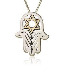 pink star diamond necklace jewish diamond jewelry hamsa star of david chai israeli jewelry
