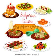 cuisine stock bulgarian cuisine icon lunch dessert tomato เวกเตอร สต อก 789820111