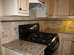 simple kitchen backsplash simple kitchen design with tumbled subway tile