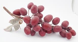 bunch of red grapes jumbo artificial faux fruit table