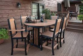 Resin Patio Table And Chairs Catchy Recycled Plastic Patio Furniture With Recycled Outdoor