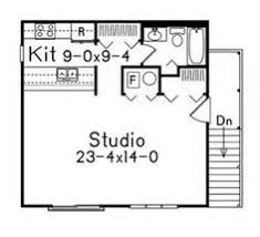 Studio Floor Plans Garage With Studio Apartment Above Hwbdo67359 House Plan From