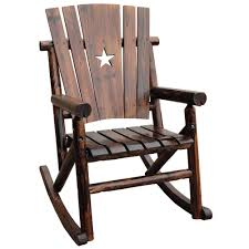 Outdoor Vinyl Rocking Chairs Leigh Country Char Log Patio Rocking Chair With Star Tx 93605