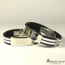 Name Engraved Bracelets Personalized Bracelet Name Engraved Titanium Steel Unisex Bracelet