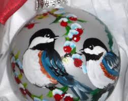 chickadee ornament etsy