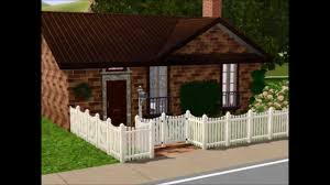 little house plans building a small cute house sims 3 youtube