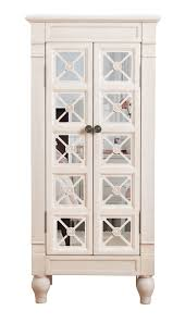 Mirrored Jewelry Armoire Ikea Furniture Mesmerizing White Jewelry Armoire With Elegant Shaped