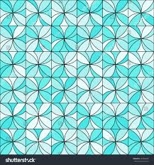 Shades Of Light Blue by Abstract Floral Mosaic Background Stylized Flowers Stock Vector
