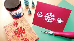 Design My Own Christmas Cards Holiday Block Printing Guide