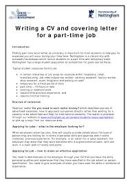 resume for part time jobs in uk part time job resume sles hvac cover letter sle hvac