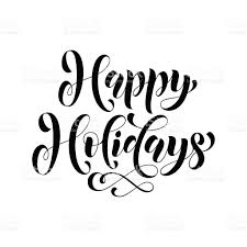happy holidays lettering greeting card stock vector more