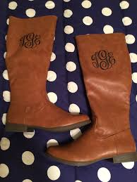 womens brown leather boots size 9 teg monogram on s brown leather boots size 9 ebay