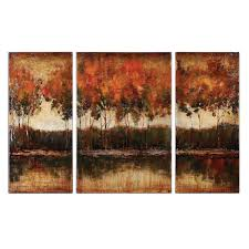 trilakes canvas wall art set of 3