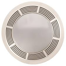 Bathroom Light And Exhaust Fan Broan 751 Fan And Light With Round White Grille And Glass Lens