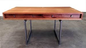 Desk Modern by Custom Mid Century Modern Mahogany Desk By Object A Custommade Com