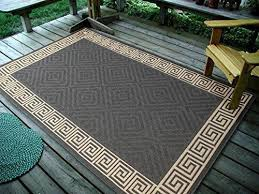 Outdoor Throw Rugs 4 5 X7 135x215cm Contemporary Geometric Rug Charcoal Indoor