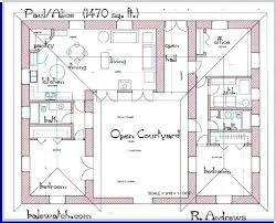 floor plan for one story house plans one story house plans with courtyard