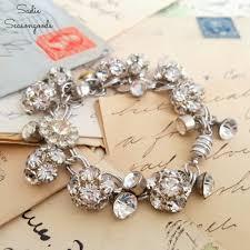 diy craft for home decor vintage rhinestone button bracelet the creative corner 130 diy