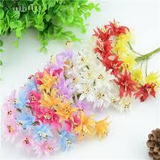 Flowers For Crafts - aliexpress com buy 6pcs lot mini silk artificial rose flowers