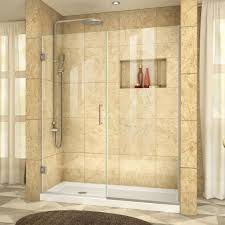 leaking shower door dreamline unidoor 46 in to 47 in x 72 in frameless hinged pivot