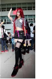 Referee Halloween Costume Lol Game Referee Skin Katarina Cosplay Costume Qualtity