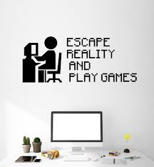 gamer quote vinyl wall decal video game gaming pixel art stickers