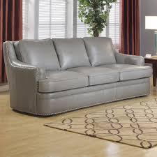 leather sofa with nailheads leather italia usa 1444 9013 031812 tulsa sofa in dark grey top